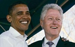 Presidents Clinton and Obama