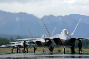 F-22 at base in Alaska
