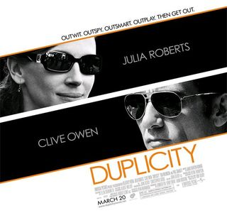 Theatrical poster for 'Duplicity'