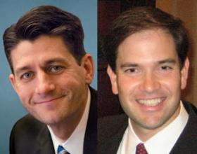 U.S. Rep. Paul Ryan (R-WI) and U.S. Sen. Marco Rubio (R-FL)