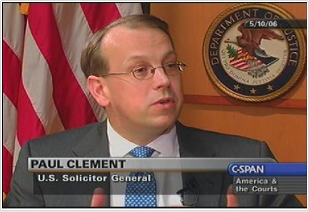 Paul Clement during his time as U.S. Solicitor General