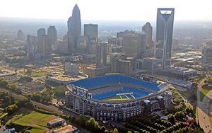 Bank of America stadium in Charlotte, NC, where no witches will melt on Thursday night, be it rainy or dry