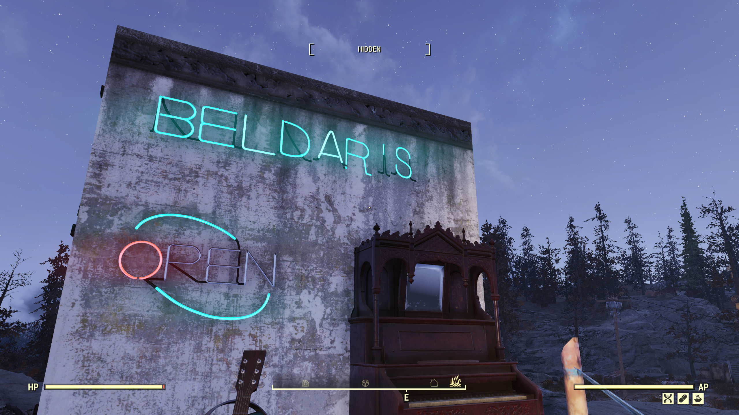 Bug Neon Letters Placement Issues With Letters Skewed Out Of Plane With Wall On Which They Re Mounted Fo76