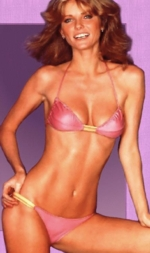 Supermodel Cheryl Tiegs, sans evening gown