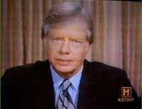 President Carter informing the nation of the failed attempt to rescue the American hostages held in Iran