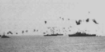 Kamikaze attack on the 'Mighty Z' on 12Jan45