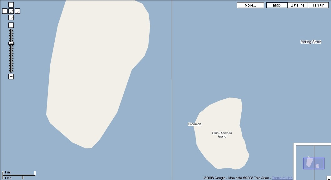 Big and Little Diomede Islands