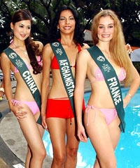 Miss China, Miss Afghanistan & Miss France