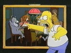 Oh my god, they're DOGS! And they're playing POKER!