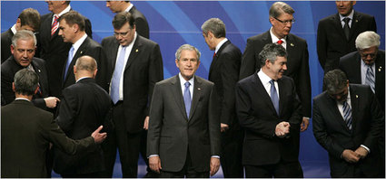 Bush at NATO meeting