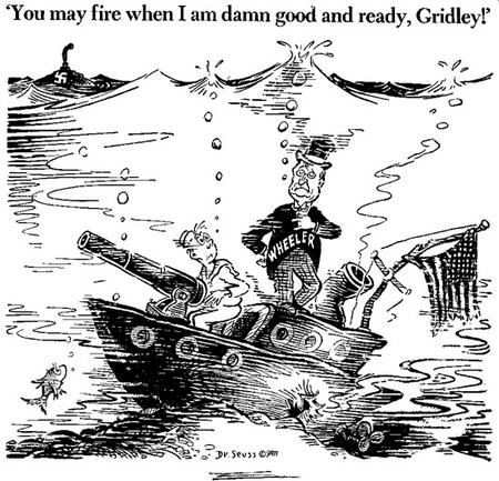 Sen. Burton Wheeler cartoon from Nov. 7, 1941
