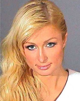 Paris Hilton's mugshot from the L.A. County Jail