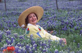 Former First Lady Lady Bird Johnson