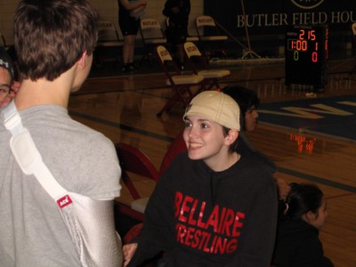 Sarah Dyer, former Bellaire varsity wrestler, now a junior