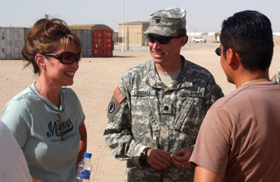 Gov. Palin at Camp Buehring in Kuwait