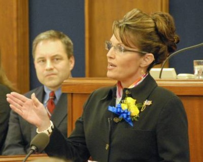 Governor Palin delivers her 2008 State of the State address before a joint legislative body on January 15, 2008