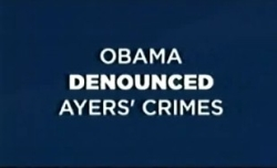 From Obama's ad on Bill Ayers
