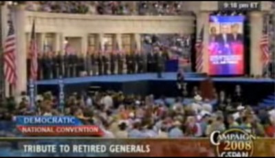 Retired generals and admirals for Obama at 2008 Democratic National Convention