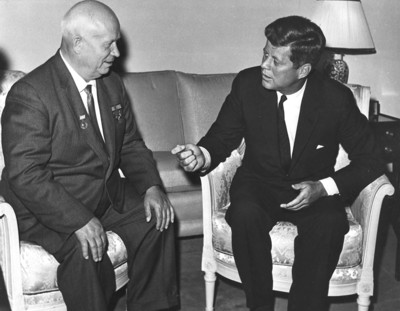 Kruschev and Kennedy at June 1961 Vienna summit