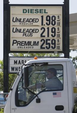 Gas station sign in Houston on Oct 31, 2008 (photo: Melissa Phillip/Houston Chronicle)
