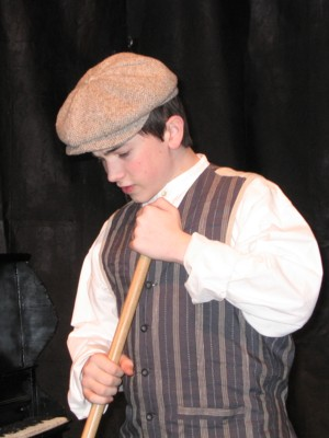 Adam Dyer as 'Barney' in 'All Aboard for Broadway'