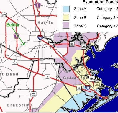 Evacuation Zones