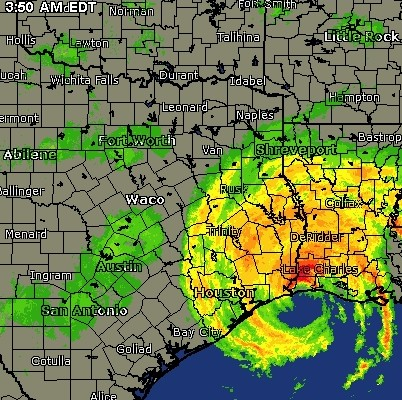 Satellite Map: 2:50am Central time